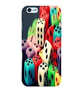 Fuson Premium Back Case Cover Colourful Dice With Yellow Background Degined For Apple iPhone 6S