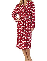 Slenderella Ladies Luxury Soft 150GSM Light Weight Micro Fleece Dressing  Gown Bath Robe House Coat Small 98b453746