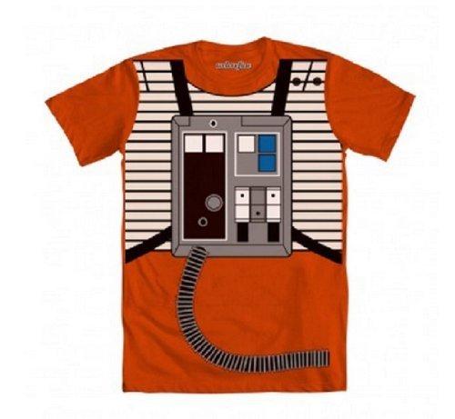 Star Wars Luke Flight Suit Orange Kostüm T-Shirt (XX-Large)