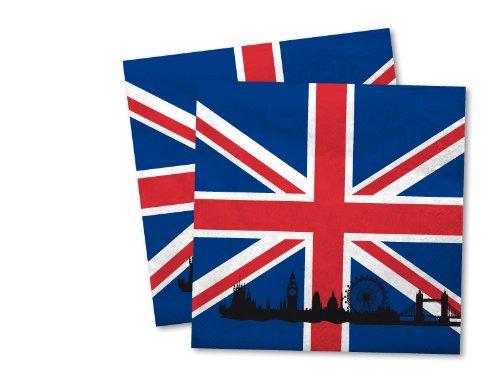 20 Servietten * Großbritannien * für Party und Geburtstag von DH-Konzept // Party Fete Set UK GB England Union Jack Napkins Papierservietten