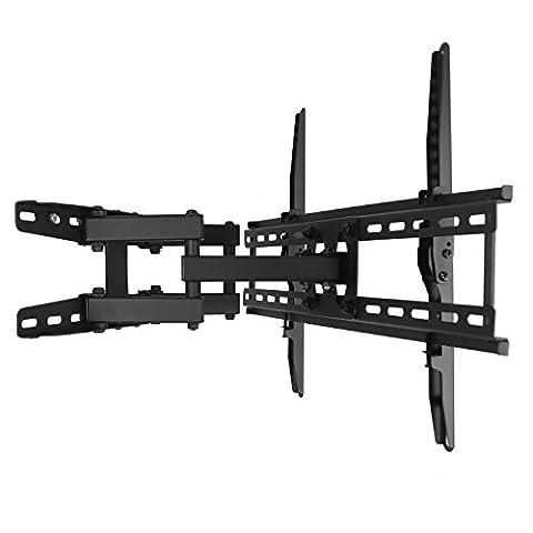 STAGIANT Support Mural TV Orientable Inclinable Pivotant 32 - 65 Pouces pour LED LCD Téléviseur à Écran Plat 4K 3D VESA MAX 600x400 mm Double Bras Renforcer ZG17T