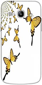 Snoogg kaleidoscopic butterflies Hard Back Case Cover Shield For Samsung Galaxy Core 2