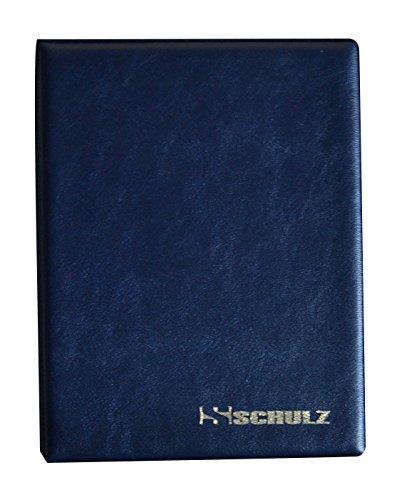 Schulz Münzalbum für 126Mix Größen Münzen von klein bis groß Medaille–mit Seiten, dunkelblau
