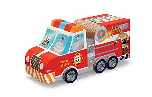 Crocodile Creek–Camión de bomberos motor 24piezas Jigsaw Puzzle + juego de vehículo