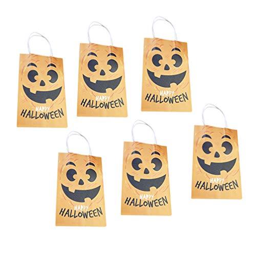 Halloween Einzelhandel - Happyyami 6 stücke kürbis papiertüten geschenkbeutel