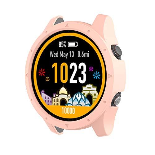 Bearbelly Rahmenprotektor Kompatibel mit Garmin forerunner 945 Watch Reine Farbe Silikon Kratzschutz Stoßfest Bruchsicher Gehäuseabdeckung Shell Frame