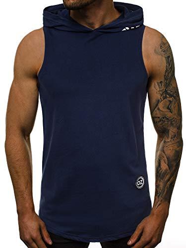 OZONEE Herren Tanktop Tank Top Tankshirt T-Shirt mit Print Unterhemden Ärmellos Weste Muskelshirt Fitness 02T S