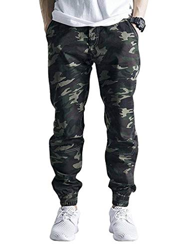 Romano Men's Camouflage Print Cotton Jogger Pants (Army,Small)