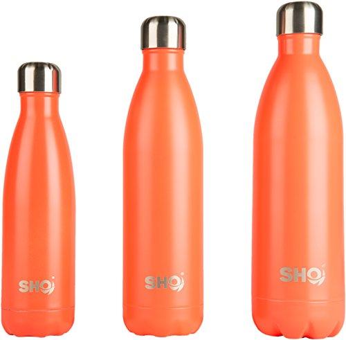 YOUR Bottle! von SHO - Perfekte Vakuumisolierte, Doppelwandige Wasserflasche & Trinkflasche aus Hochwertigem Edelstahl