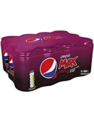 Pepsi Max Cherry Cans, 330ml (Pack of 12)