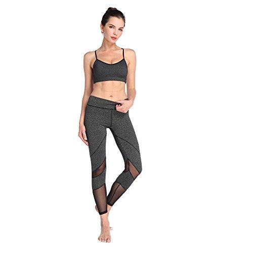 Schnell trocknende Leggings Fitness und Yoga - 2
