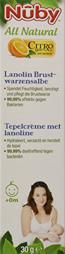 Nuby All Natural Lanolin Brustwarzensalbe (1 x 30 ml)