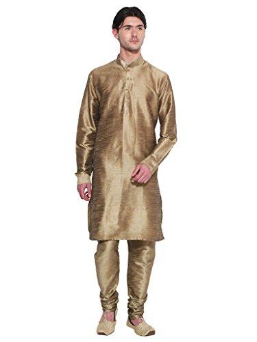 Royal Kurta Men' s Designer S Silk Blend Kurta Churidar