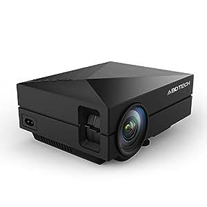 Abdtech 130 «projecteurs mini projecteur 1000 lumens 800 *480 résolution pour home cinéma théâtre