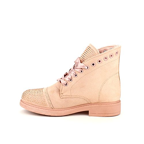 Cendriyon Bottine Rose Vivi Rich Mode Chaussures Femme Rose