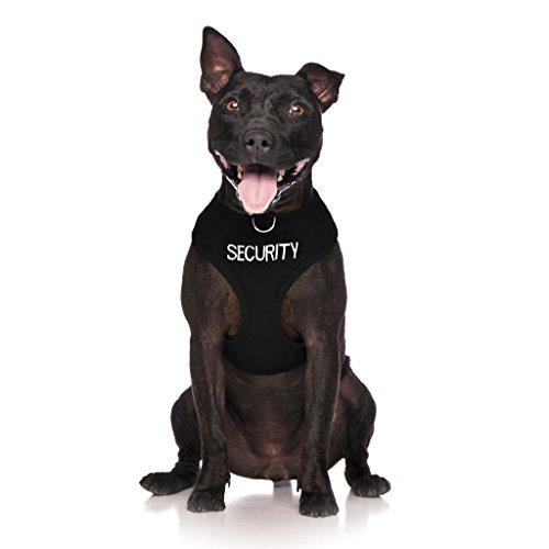 """Hundeweste, Hundegeschirr mit Aufschrift: """"Security"""", farbkodiert schwarz, D-Ringe gegen Ziehen..."""