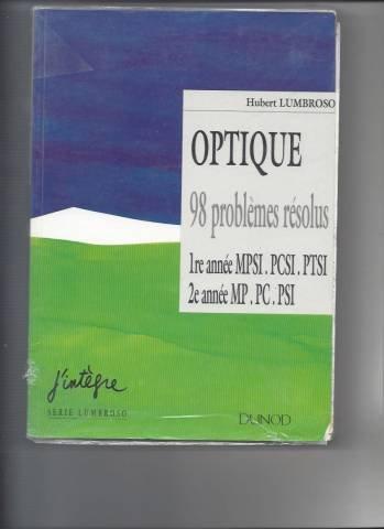 Optique 98, problèmes résolus, 1996