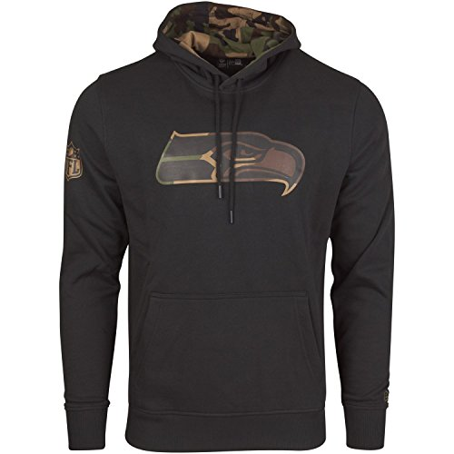 New Era Fleece Hoody - NFL Seattle Seahawks schwarz - L