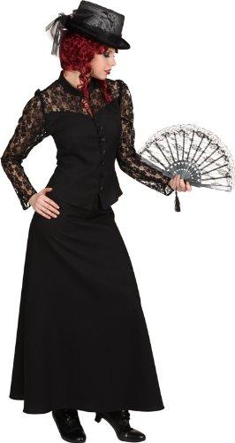 Halloween Damen Kostüm schwarze Witwe als Vampirin verkleiden (Kostüm Witwe)