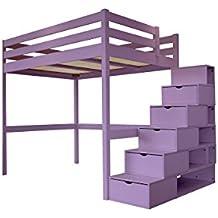 Amazon Fr Lit Mezzanine 140x200