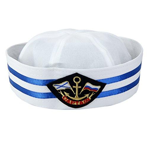 Kapitän Kostüm Frauen Seemann - Fenteer Matrosen-Mütze Kapitänsmütze Seemann Kostüm Kapitänshut für Frauen Männer - Farbe 3, 58cm