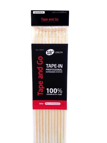 Gary Sunderland Tape and Go Haarverlängerung zum Ankleben, Remy-Haar, 100% menschliches Echthaar, Platinblond -