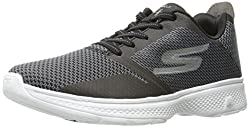 Skechers Performance Mens Go 4-54169 Walking Shoe, Black/White, 13 M US