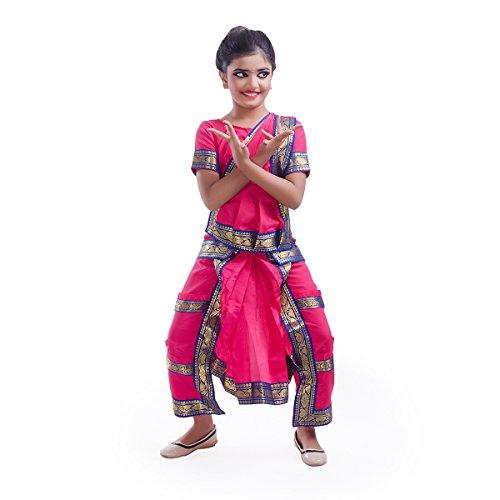 Fancydresswale Bharatnatyam Dress (6-8 yrs, Pink)