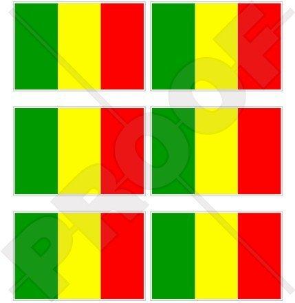 Belgique Belge Drapeau 40/mm Stickers x6 40,6/cm T/él/éphone Mobile Mini en vinyle autocollants