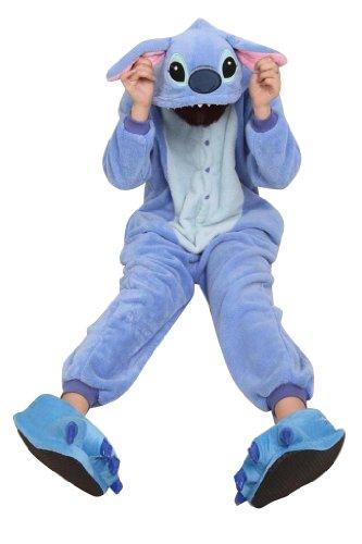 Cosplay Halloween Romper HOT Disney Stitch-Kostüm-Partei Pyjamas Unisex Kostüm Kigurumi Pyjamas Nachtwäsche Stich / L