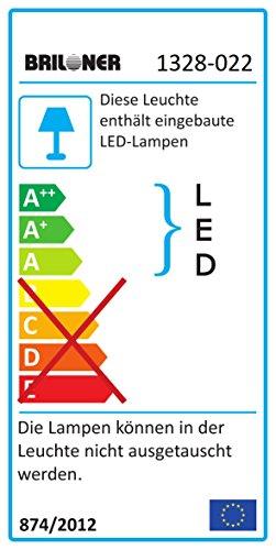Briloner Leuchten – LED Stehlampe mit flexibler Leselampe, eckiger 2-teilig kipp- & schwenkbarer Leuchtenkopf, stufenlos dimmbar, moderne Wohnzimmerlampe, 21 W + 3.5 W