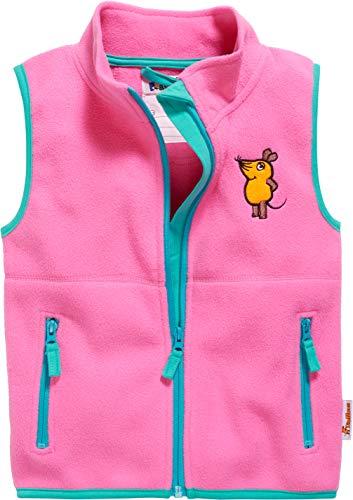 Playshoes Kinder Fleeceweste DIE Maus Weste, Rosa (Pink 18), 92