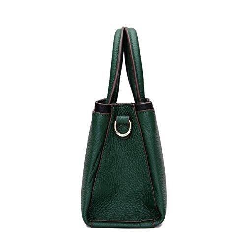 SAIERLONG Nuovo Donna Verde Vera Pelle Borse Tracolle Verde
