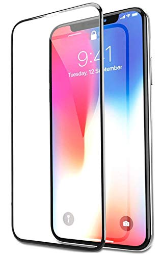 Bovon - Protector Pantalla para iPhone XS/X, Cristal Templado, Anti-Golpe, sin Burbujas, Compatible con 3D Touch, 9H Dureza, Alta Definicion, Transparente (Red)