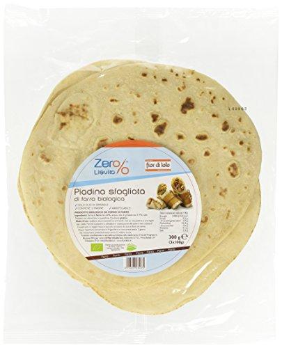 Zer% Lievito Piadina di Farro - 2 confezioni da 3 pezzi da 100 g [6 pezzi, 600 g]