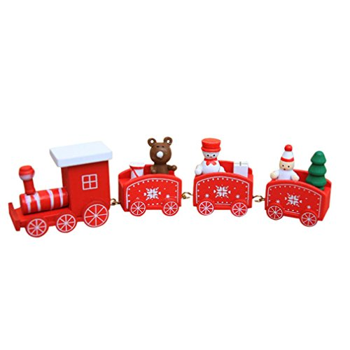 Lavany ® Christmas Decorations Woods Small Train Children Kindergarten Gift Decorative Stitching Toy