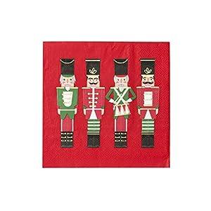 Talking Tables Servilletas de papel para decoración navideña, 20 unidades, color rojo, (BC-NUT-NAPKIN)