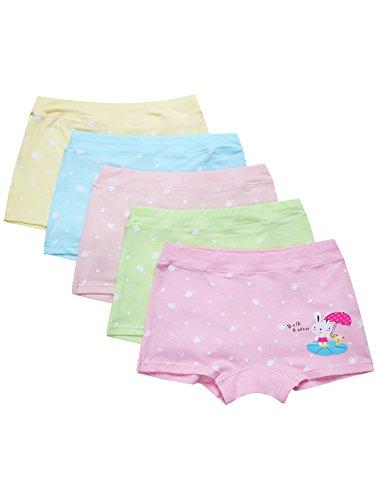 Mädchen Panty (Ateid Mädchen Unterhosen Shorts Häschen Motiv 5er-Pack 122 (Herstellergr. XL))