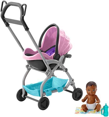 er Babysitters Inc. Puppe und Spielset, kleine Baby-Puppe mit 2-in-1 Buggy ()