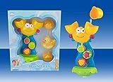 Moni Wasserspielzeug Krabbe, Badewannenspielzeug, Wassermühle mit Trichter und Ente