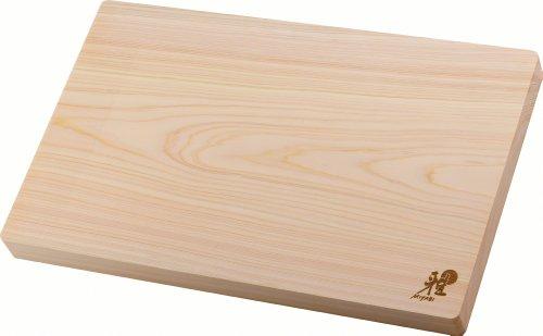 Miyabi 34535-300 - Tabla de cortar en madera de Hinoki, 400 x 250 x 30 mm