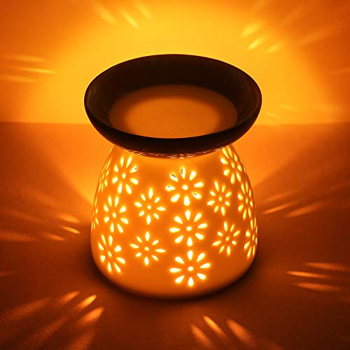 Diffusore di Aromi Oil in ceramica, Lampada profumata Ceramic Scent Ceramic Burner...