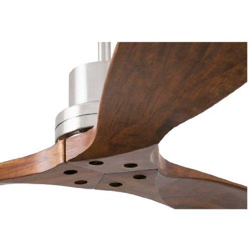 417nrnA98YL. SS500  - Ceiling fan Lorefar LANTAU Faro 33370 Nickel matt with 3 dark walnut blades Diameter 132 cm with remote control 3 fan…