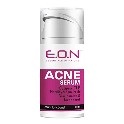 Essentials of Nature Eon Acne Serum Active Formula for Oily and Acne-Prone Skin with Patented Cutipure Clr, Niacinamide and Tocopherol 15 ml