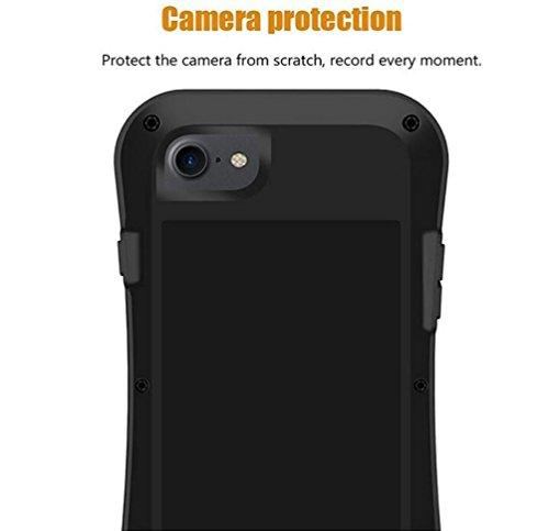 """iPhone 6/6S 4,7 """"Strap Case, i-Nings Heavy Duty Kleine Taille wasserdicht Extrem Schock / Schnee / Schmutz Proof Aluminium Cover mit Gorilla Glas Bildschirm für Apple iPhone 6/6S 4,7"""" (Red) Silver"""