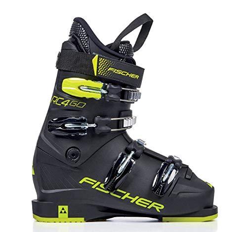 Fischer Jugend Junior Skischuhe RC4 60 JR Thermoshape, schwarz/gelb, 23.0, 230 -