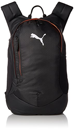 Puma final Pro Backpack – Mochila multifunción, PUMA Black de Fiery Coral, 51 x 35 x 2.5 cm
