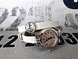 Wickelarmbanduhr Wickeluhr Armbanduhr Lederarmband Uhr Schmuck weiß silber maritim Anker Cabochon Schiebeperle Geschenk Geschenkidee