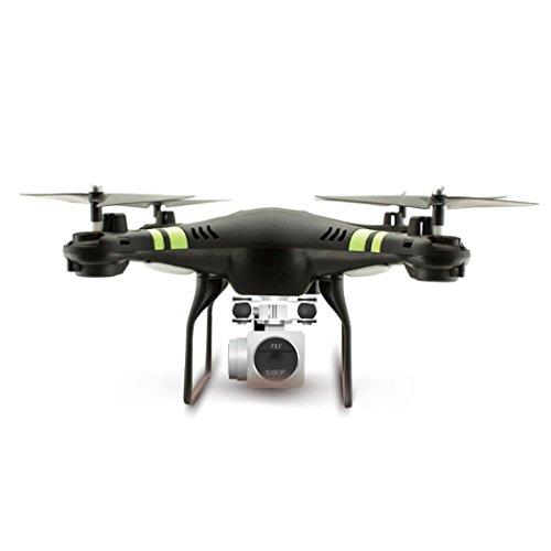 SHOBDW 2.4G Höhe Hold HD Kamera Quadcopter RC Drone WiFi FPV Live Hubschrauber Hover (Schwarz) (Farbe Deckt Großer Schlüssel)