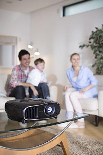 Bild 20: Epson EH-TW6100 3D Heimkino 3LCD-Projektor (Full HD 1080p, 2.300 Lumen Weiß & Farbhelligkeit, 40.000:1 Kontrast, 2x HDMI (1x MHL), inkl. 1x 3D Brille) schwarz